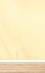 Birch plywood, transparent melamine film finish