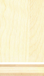 Holzmuster: Ahorn 3-Schichtplatte
