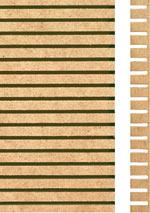 Holzmuster: MDF formbar, einseitig geschlitzt