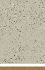 MDF with mineral finish resembling concrete