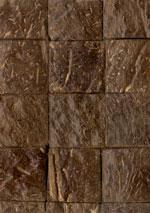 Holzmuster: Kokosmosaik rustikal