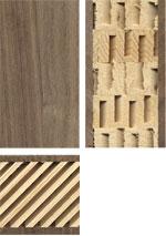 Holzmuster: 3-Schicht-Platte mit leichter Mittellage