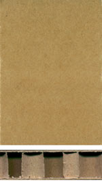 Holzmuster: Papierwabenplatte