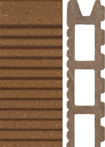 A wood-plastic composite plank